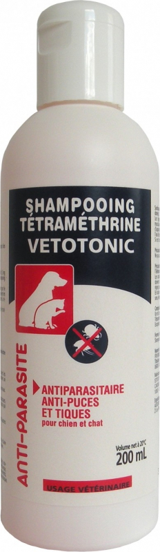 VétoTonic Shampoing Tétramétrhine Vétotonic pour chien / chat