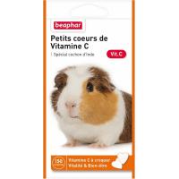 Kleine Herzen aus Vitamin C, Snacks für Meerschweinchen