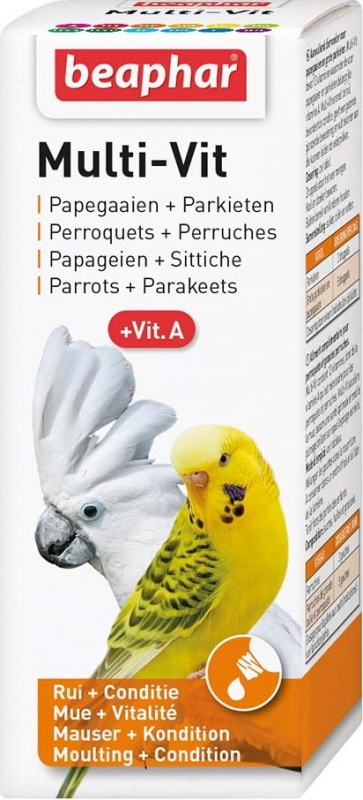 Multi-Vitamine für Sittiche und Papageien