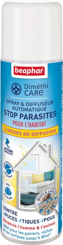 DiméthiCARE, spray & difusor automático stop parásitos para el hogar del animal