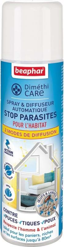 DimethiCARE, spray & diffusore automatico stop parassiti per l'habitat dell'animale