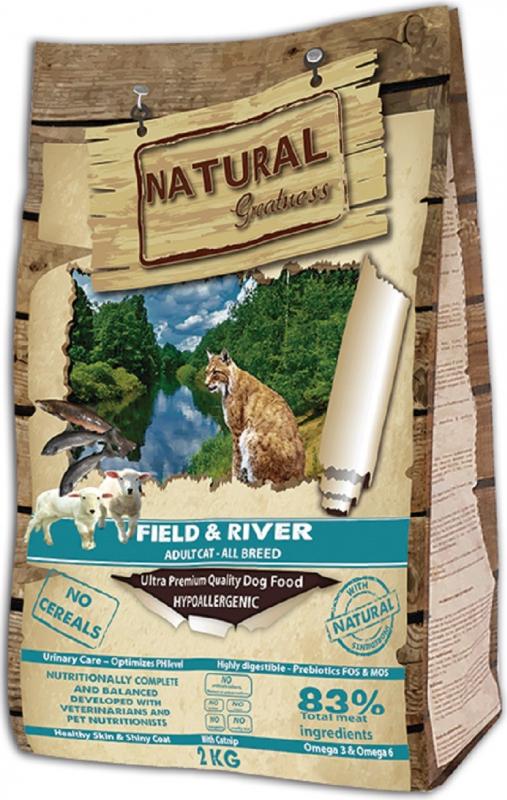 NATURAL GREATNESS Field & River Senza Cereali per Gatti Adulti