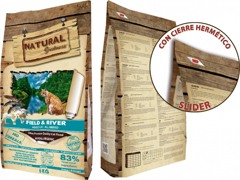 NATURAL GREATNESS Field & River Sans Céréales pour Chat Adulte