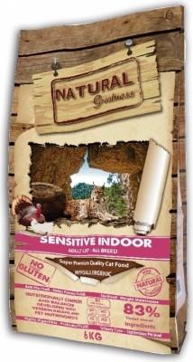 NATURAL GREATNESS Sensitive Indoor pour Chat Adulte d'intérieur, Stérilisé ou Senior