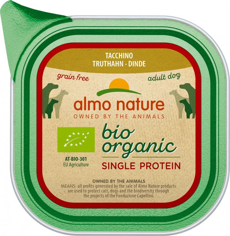Patè ALMO NATURE Bio Mono-proteina 150g per Cani Adulti - 4 gusti a scelta