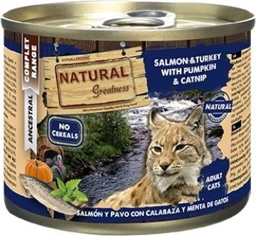 Nassfutter NATURAL GREATNESS Complet Adult getreidefrei 200g für Katzen - 3 Geschmacksrichtungen