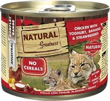 Pâtées NATURAL GREATNESS Complet Sans Céréales 200g pour Chat Adulte - 3 saveurs au choix
