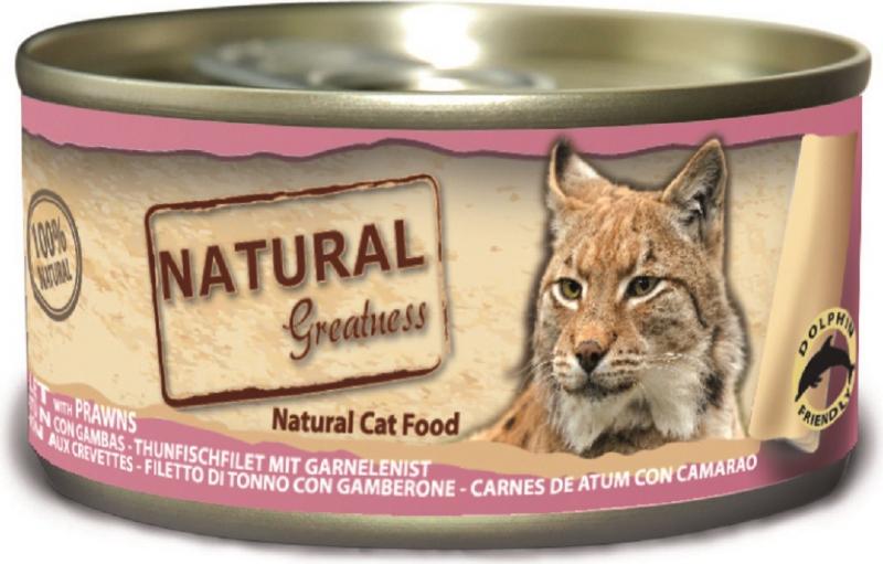 Natvoer NATURAL GREATNESS Classic 70g voor volwassen katten en kittens - 4 smaken naar keuze