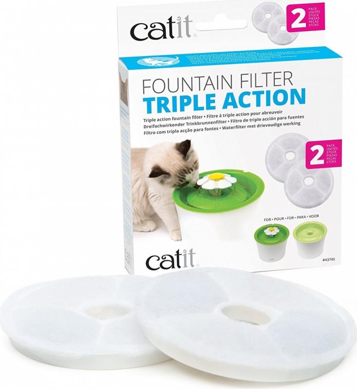 Filtres à triple action 2.0 pour fontaine Cat-it Senses