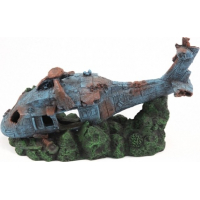 Epave Hélicoptère décor pour aquarium