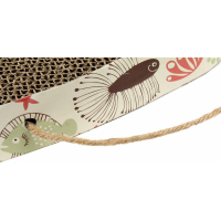 Griffoir en Carton Zolia Jasper à accrocher avec herbe à chat incluse