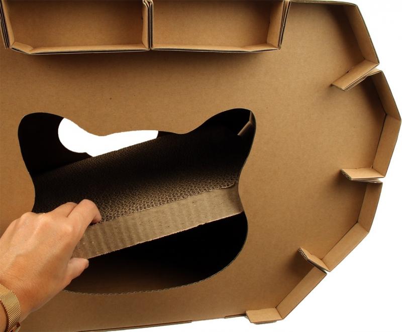 Casita-rascador en cartón DIY Zolia Naoko