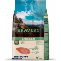 BRAVERY Puppy Mini Sans Céréales Poulet pour Chiot de petite taille