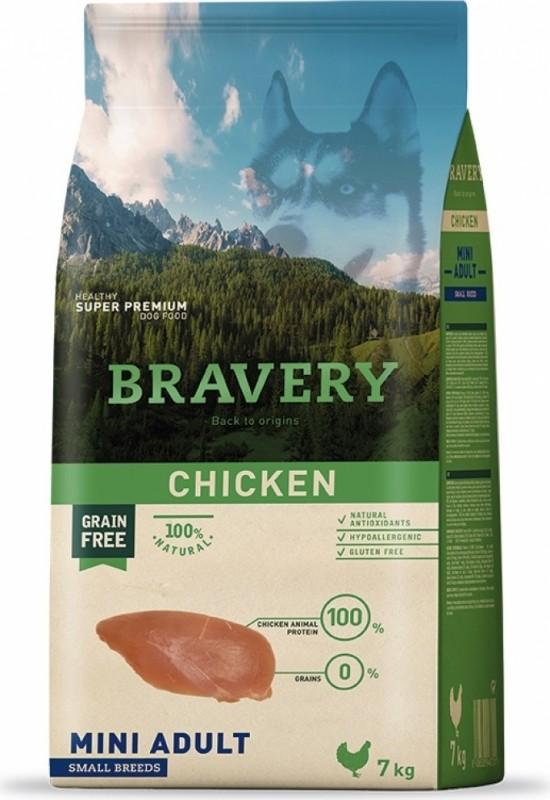 BRAVERY Adult Mini ohne Getreide mit Pute für Hunde kleiner Rassen