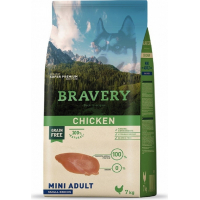 BRAVERY Adult Mini Sans Céréales Poulet pour Chien de petite taille