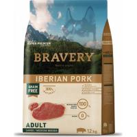 BRAVERY Adult Medium & Large Sans Céréales Iberian Pork pour Chien de moyenne et grande taille