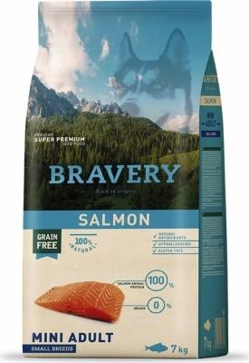 BRAVERY Adult Mini Sans Céréales Saumon pour Chien de petite taille