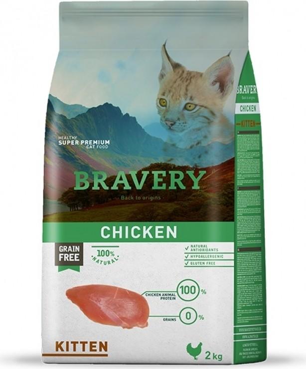 BRAVERY Kitten Grain Free, met kip