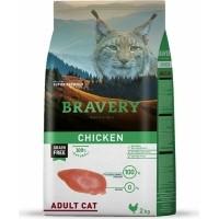 BRAVERY Adult Cat Sans Céréales au Poulet pour Chat Adulte