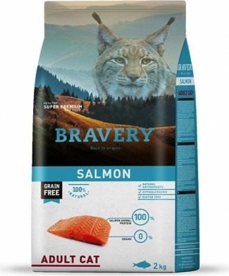 BRAVERY Adult Cat Sans Céréales au Saumon pour Chat Adulte