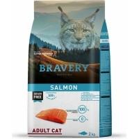 BRAVERY Adult Cat Sans Céréales au Saumon pour Chat Adulte