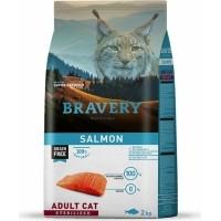 BRAVERY Sterilized Cat Sans Céréales au Saumon pour Chat Adulte Stérilisé