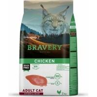 BRAVERY Sterilized Cat Sans Céréales au Poulet pour Chat Adulte Stérilisé