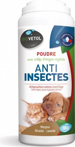 Poudre anti-insectes pour chiens et chats