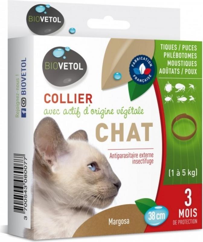 Collar antiparasitario Biovetol para gato