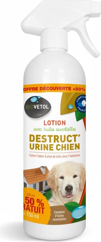 Biovetol Lotion Destruct'Urine pour chiens