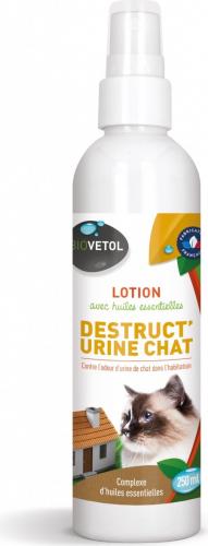 Biovetol Loción Destruct'Urine Gato - Destructor de olores de orina