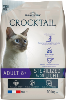 PRO-NUTRITION Flatazor CROCKTAIL Adult 8+ Sterilized pour Chat Senior Stérilisé