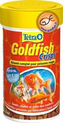 Flocons pour poisson d 39 eau froide tetragoldfish crisps for Flocon poisson