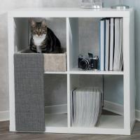 Lit pour chat facile à installer pour étagères