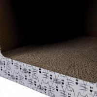 Maison en carton griffoir pour chat