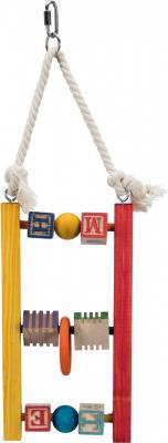 Echelle en bois, multicolore jouet pour oiseaux