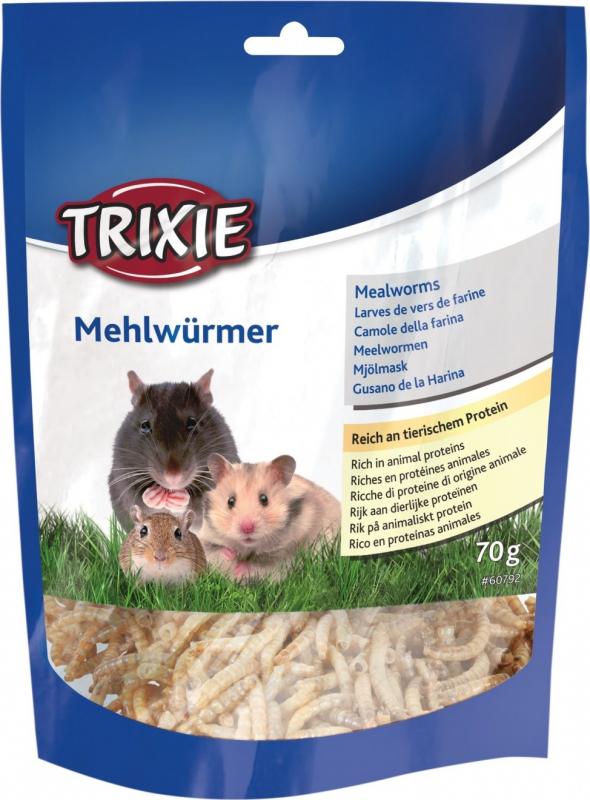 Larvas de gusanos de harina secas para roedores