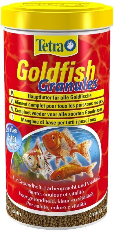 Tetra goldfish granul s 500ml 1l et 10l nourriture en for Goldfish nourriture