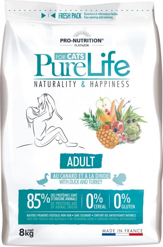 PRO-NUTRITION Flatazor Pure Life Sans Céréales Adult pour Chat Adulte
