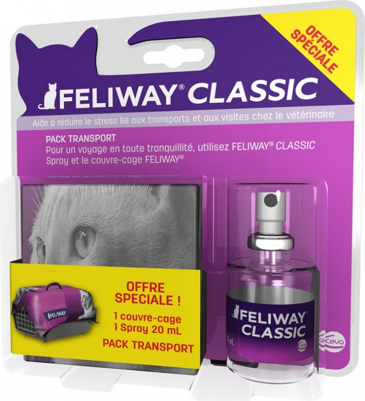 FELIWAY Pack Promo Spray aux phéromones + couvre cage