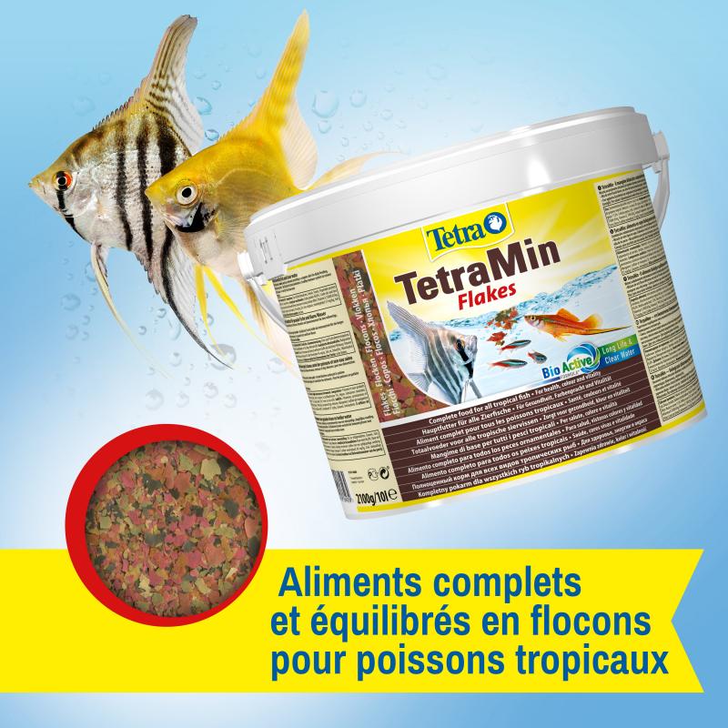 Tetra TetraMin flocons pour poissons tropicaux de 100ml à 10L