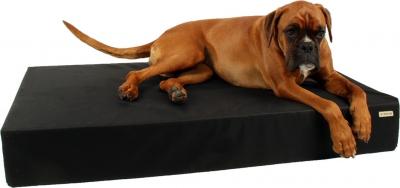 ZOLIA Naya Matelas pour chien Noir déperlant - 110cm - Maxi épaisseur