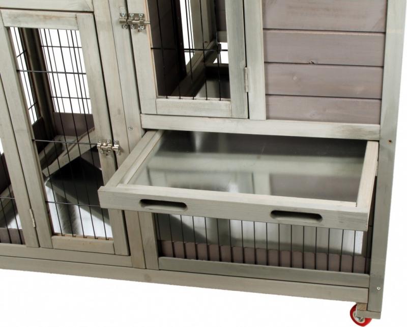 clapier d 39 int rieur en bois pour lapins ou cochons d 39 inde zolia keops 100cm. Black Bedroom Furniture Sets. Home Design Ideas