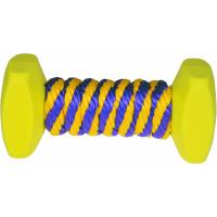 Jouet de dressage pour chien haltères plastiques et cordes en nylon