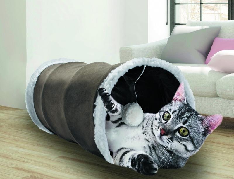 Pluche tunnel voor katten - meerdere kleuren