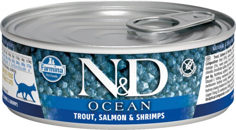 FARMINA N&D Ocean pour chat - 8 recettes au choix