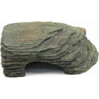 Roca plana con refugio decoración para terrario