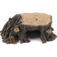 Base tronco d'albero con riparo decorazione per terrario