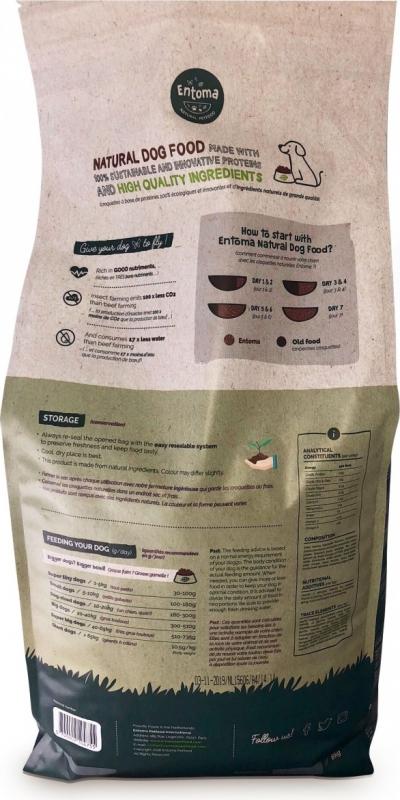 Croquettes Sans Céréales ENTOMA aux Insectes, Patate douce & Graines de lin pour Chien Adulte