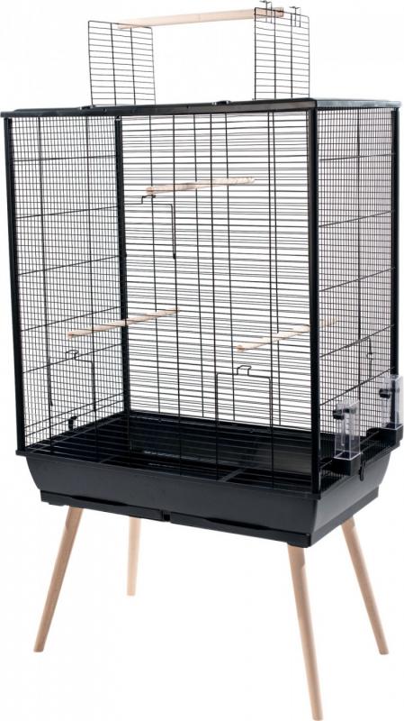 Cage NEO Jili XL pour oiseau, Noir - H132cm